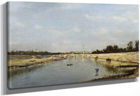 The Pont De L'alma Near Paris By Stanislas Lepine