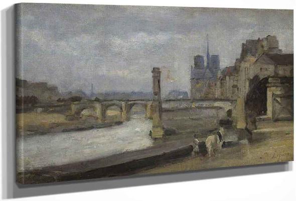 The Pont De La Tournelle, Paris By Stanislas Lepine