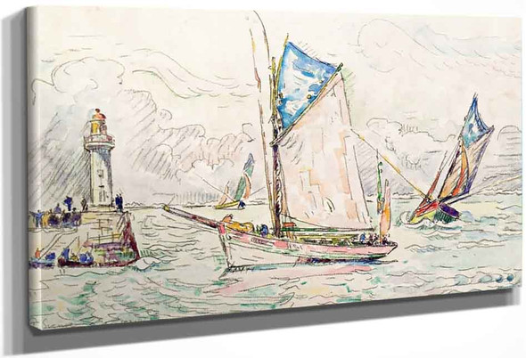 The Port Of Groix By Paul Signac