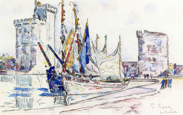 The Port Of La Rochelle2 By Paul Signac