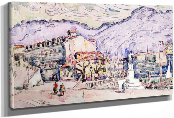 The Port Of Nice By Paul Signac
