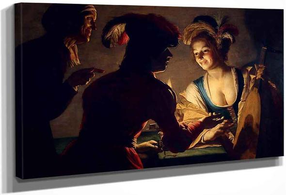 The Procuress By Gerard Van Honthorst By Gerard Van Honthorst
