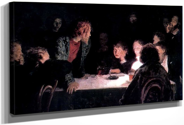 The Revolutionary Meeting. By Ilia Efimovich Repin