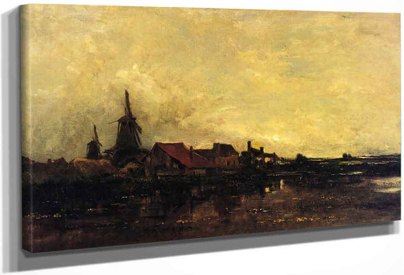 The River Meuse At Dordrecht By Charles Francois Daubigny By Charles Francois Daubigny