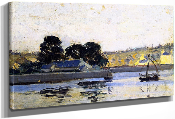 The River Rance At La Hisse By Clarence Gagnon By Clarence Gagnon