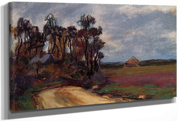 The Road And The House By Claude Oscar Monet
