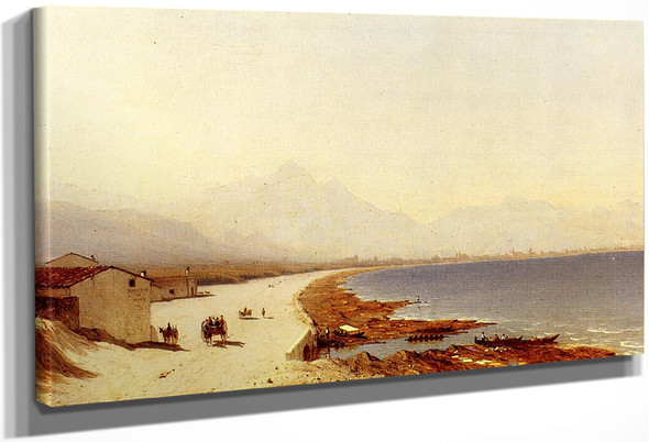 The Road By The Sea, Near Palermo, Sicily By Sanford Robinson Gifford