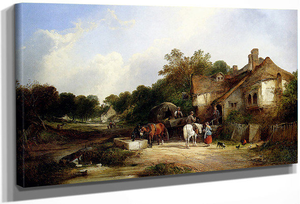 The Road Side Inn, Somerset By William Shayer Snr