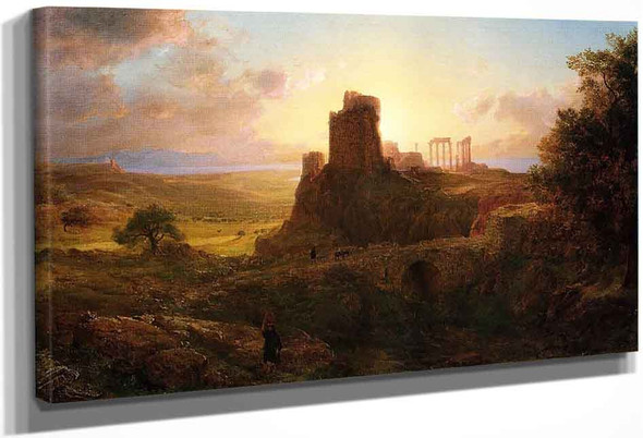 The Ruins At Sunion, Greece By Frederic Edwin Church By Frederic Edwin Church