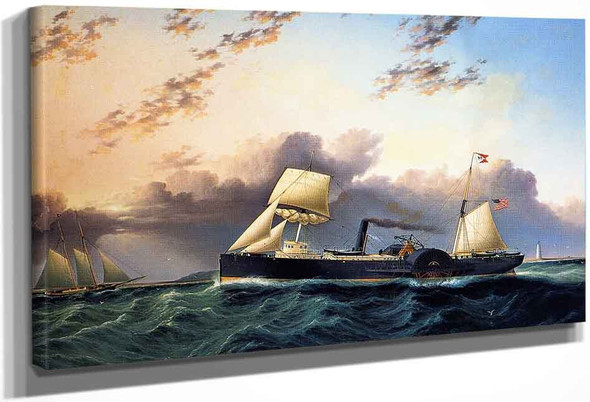 The Steam And Sail Ship By James E. Buttersworth