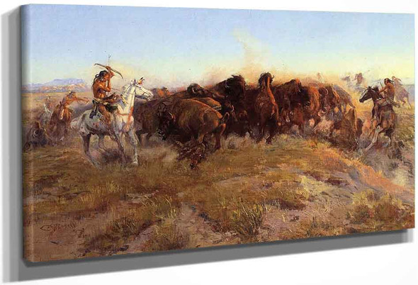 The Surround By Charles Marion Russell