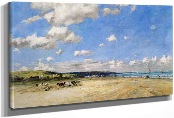 The Tourgeville Beach By Eugene Louis Boudin