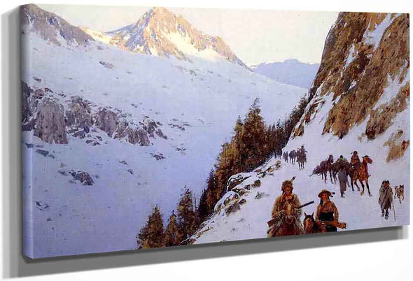 The Trail Over The Pass By Henry F. Farny By Henry F. Farny