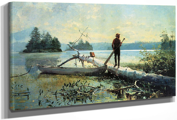 The Trapper, Adirondacks By Winslow Homer