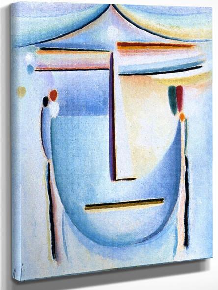 Abstract Head 11 By Alexei Jawlensky By Alexei Jawlensky