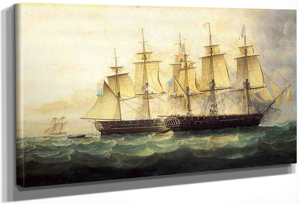 The U.S.S. Chesapeake And The H.M.S. Shannon By James E. Buttersworth