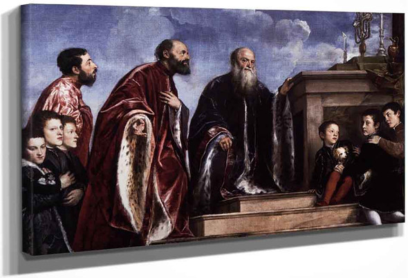 The Vendramin Family Venerating A Relic Of The True Cross By Titian