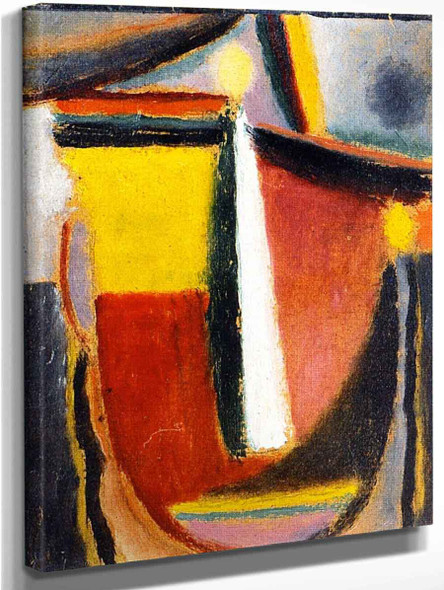 Abstract Head 17 By Alexei Jawlensky By Alexei Jawlensky
