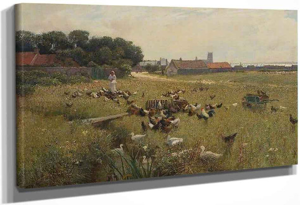 The Village Common By Alfred East