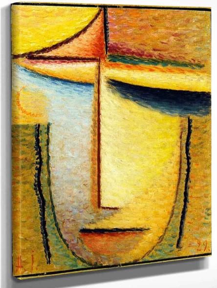 Abstract Head 9 By Alexei Jawlensky By Alexei Jawlensky