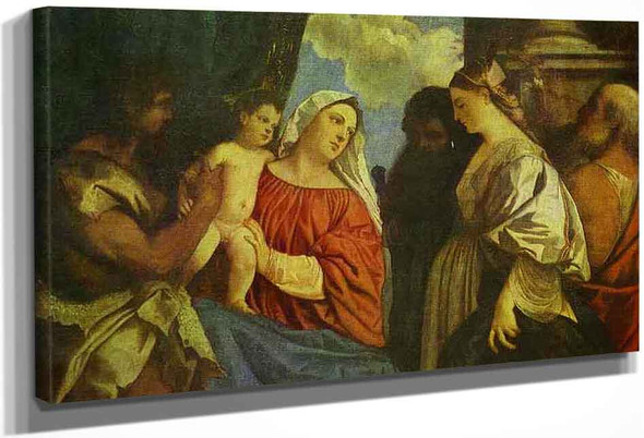 The Virgin And Child With Four Saints By Titian