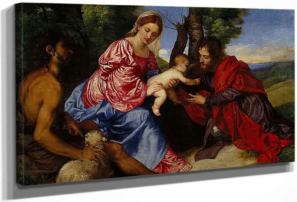The Virgin And Child With Saint John The Baptist And An Unidentified Saint By Titian