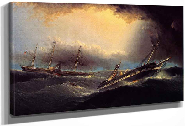 The Washington Rescuing The Passengers And Crew Of The Winchester By James E. Buttersworth