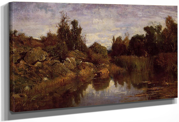 The Water's Edge By Charles Francois Daubigny By Charles Francois Daubigny