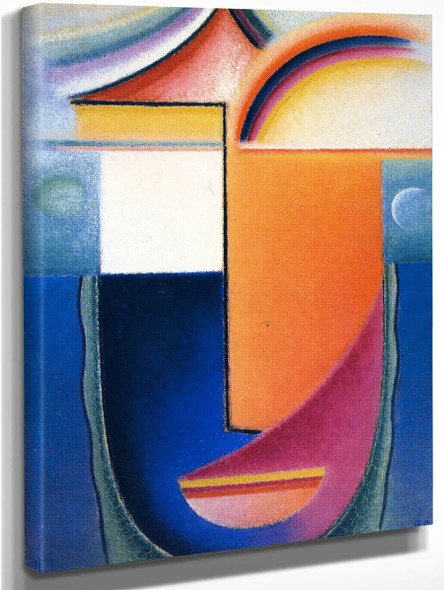 Abstract Head Appearance By Alexei Jawlensky By Alexei Jawlensky