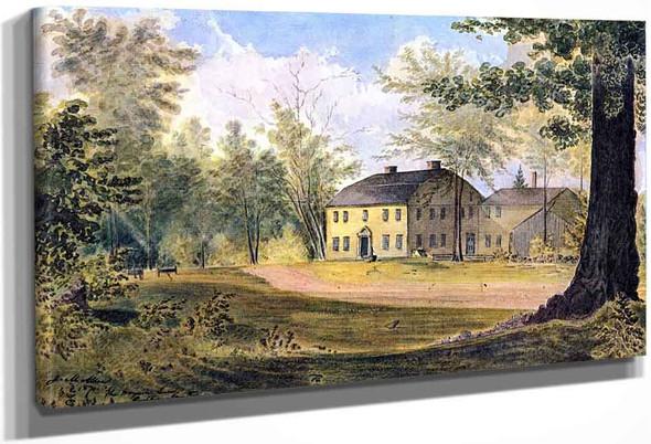 The Wayside Inn, Sudbury, Massachusetts By James Madison Alden By James Madison Alden