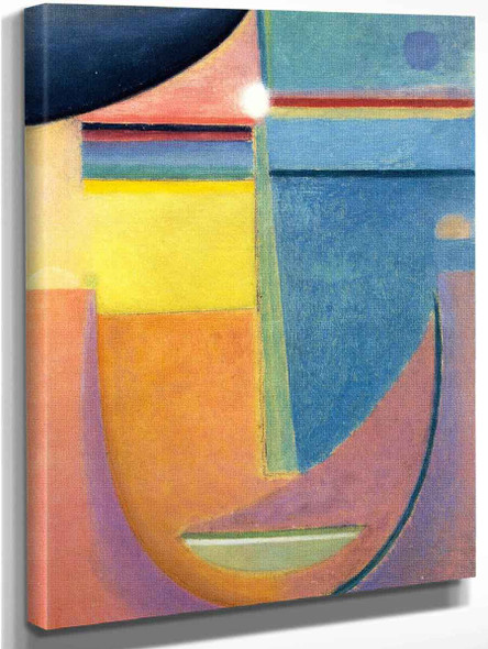 Abstract Head Composition No. 1 'Sunrise' By Alexei Jawlensky Art Reproduction