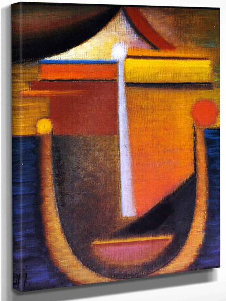 Abstract Head Composition No. 10 By Alexei Jawlensky By Alexei Jawlensky