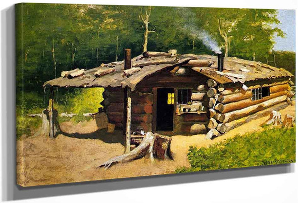 Thompson's Cabin On Silver Lake By Frederic Remington