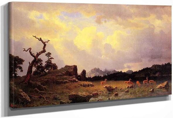 Thunderstorm In The Rocky Mountains By Albert Bierstadt