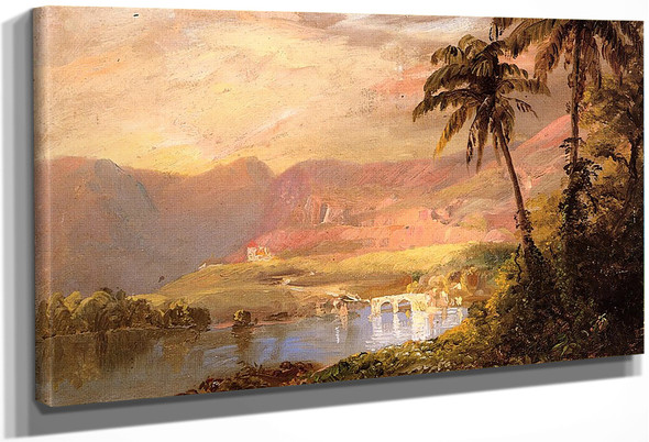 Tropical Landscape2 By Frederic Edwin Church By Frederic Edwin Church