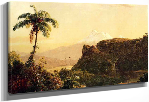 Tropical Landscape By Frederic Edwin Church By Frederic Edwin Church