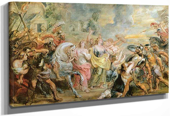 Truce Between Romans And Sabinians By Peter Paul Rubens