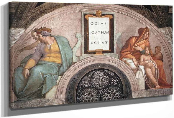 Uzziah Jotham Ahaz By Michelangelo Buonarroti By Michelangelo Buonarroti