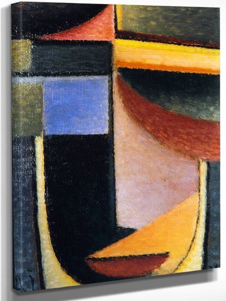 Abstract Head The Cup Passed From Me By Alexei Jawlensky By Alexei Jawlensky