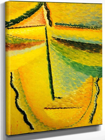 Abstract Head The Guardian Angel By Alexei Jawlensky By Alexei Jawlensky