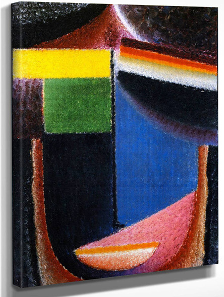 Abstract Head The Miracle By Alexei Jawlensky By Alexei Jawlensky