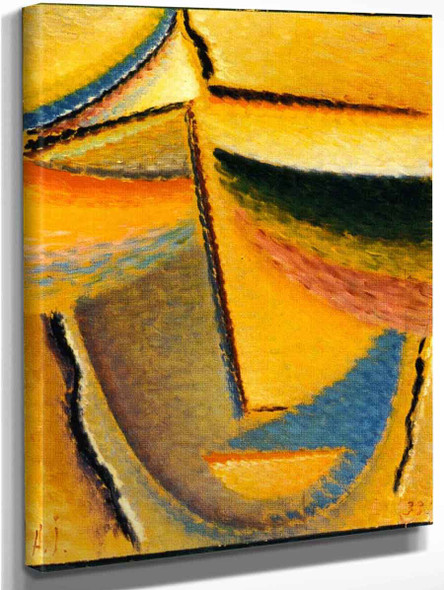 Abstract Head To The Most Beautiful By Alexei Jawlensky By Alexei Jawlensky