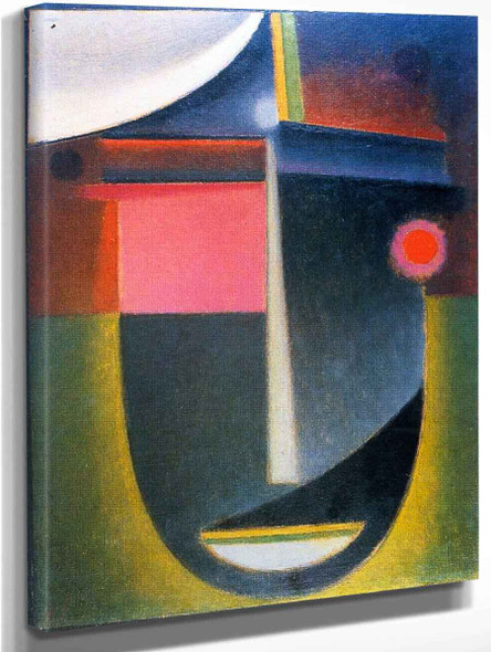Abstract Head Tragic Fate By Alexei Jawlensky By Alexei Jawlensky