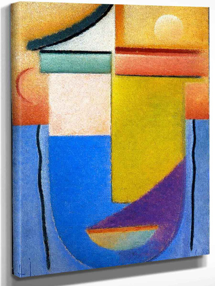 Abstract Head Water And Light By Alexei Jawlensky By Alexei Jawlensky
