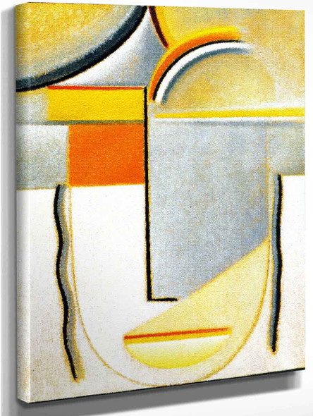 Abstract Head Winter Yellow And Orange 1 By Alexei Jawlensky By Alexei Jawlensky