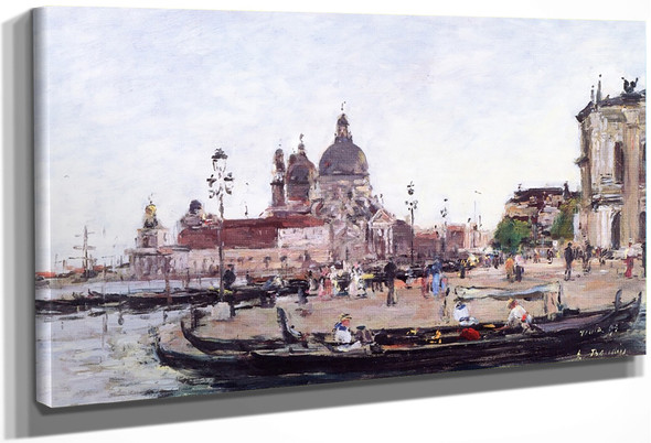 Venice, The Salute By Eugene Louis Boudin