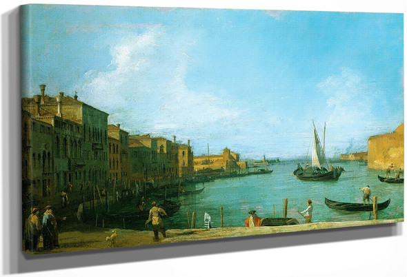 Venice The Canale Di S. Chiari Towards The Lagoon By Canaletto By Canaletto