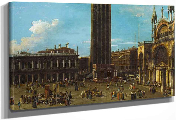 Venice The Piazza From The Piazzetta With The Campanile And Side Of S. Marco By Canaletto By Canaletto