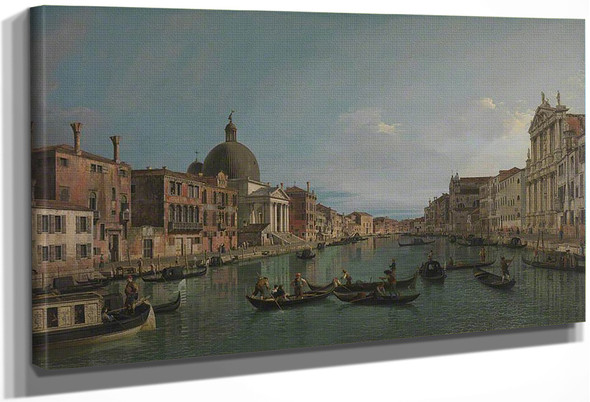 Venice The Upper Reaches Of The Grand Canal With S. Simeone Piccolo By Canaletto By Canaletto