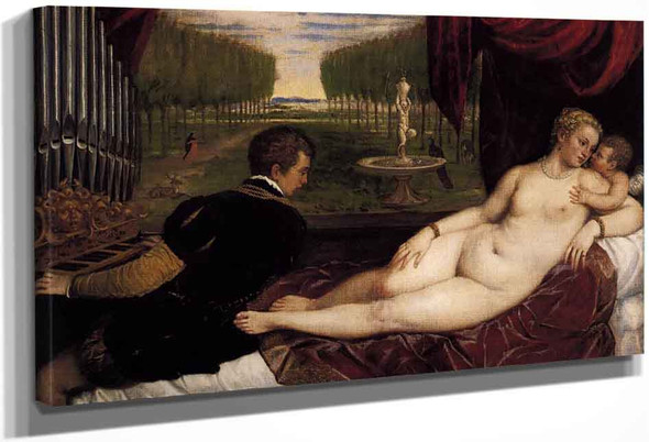 Venus With Organist And Cupid By Titian